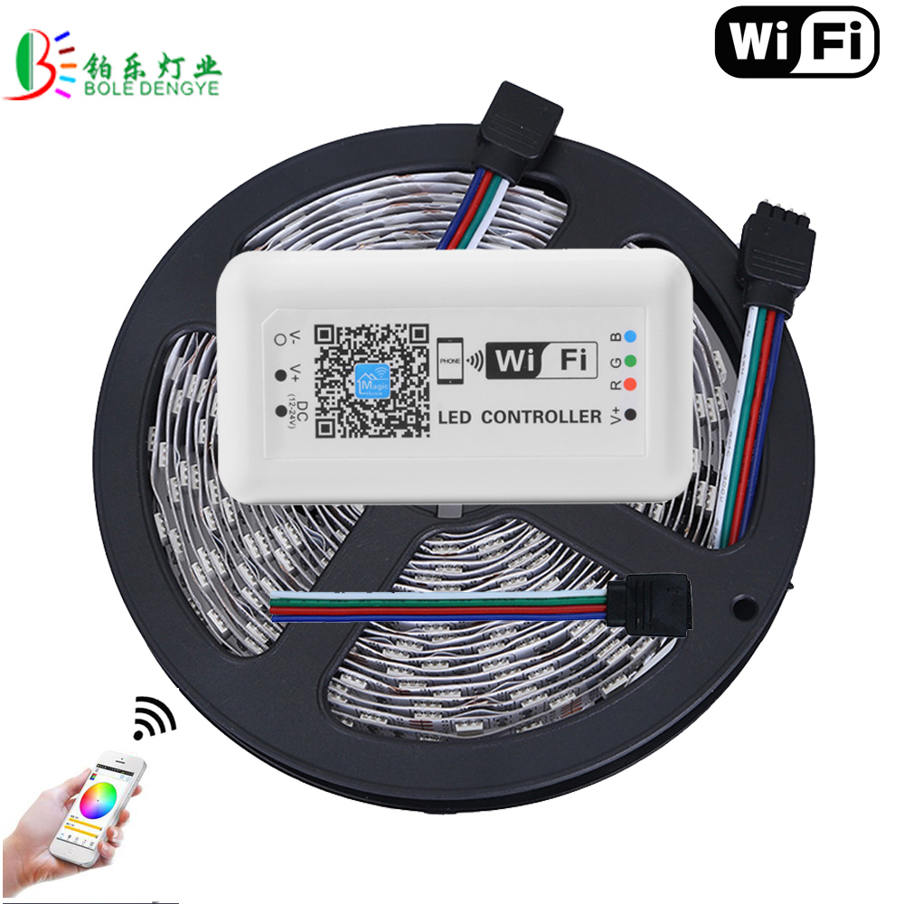 15M WIFI LED Strip 5050 Non Waterproof 60LED/M Magic Home WIFI Controller Smart Phone Control 10M 5M Lighting Diode Tape