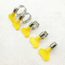 5 шт./лот Homebrew хомут подходит 6 мм O.D~ 29 мм O.D трубка пластиковая ручка из нержавеющей стали бабочка хомут для шланга