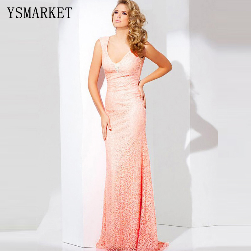 Plus Size Pink Purple Lace Mermaid Maxi Dress Floor Length Robe De ...
