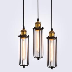 Rétro RH lampes suspendues industrielles pour entrepôt/Bar a gladiateur Vintage lampes suspendues E27 ampoules Edison AC110V/AC220V éclairage
