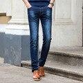 2016 de La Moda de Los Hombres Pantalones Vaqueros Clásicos de la Nueva Llegada Diseño Slim Fit pantalones Para Hombre de la Buena Calidad 3 Colores Negro Azul Oscuro 28-40