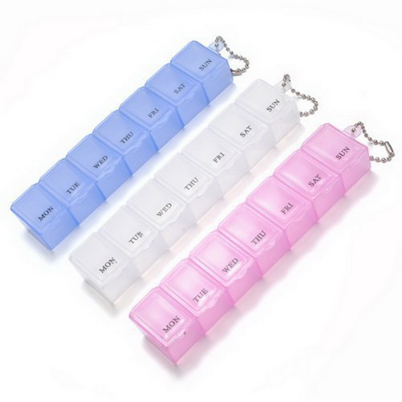 Новый 1 шт. очень полезно 7 дней в неделю pill box Медицина держатель отделения витамин Хранения Travel Kit