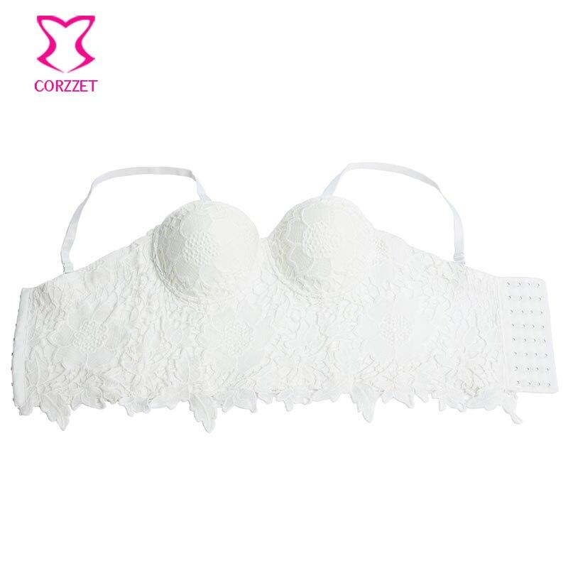 Bordado floral Encaje Push Up Bralet Bras Para Las Mujeres Bustier - Ropa de mujer - foto 4