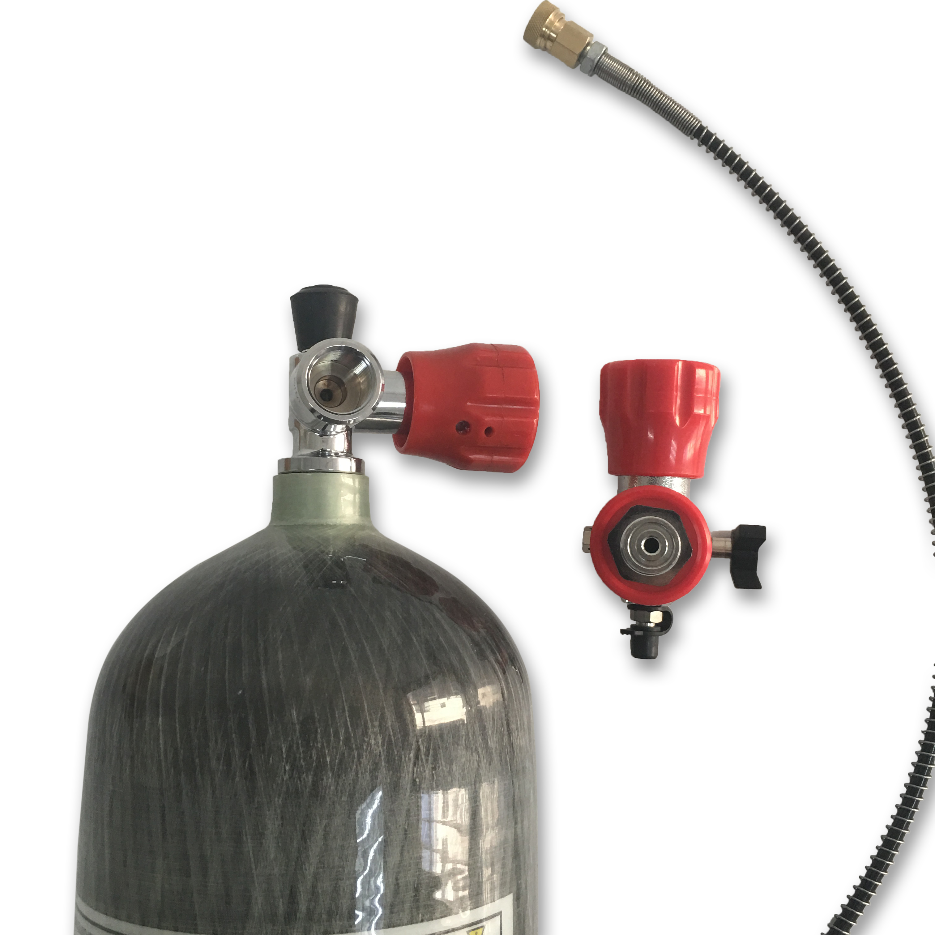 AC168101 6 8L Paintball Tank PCP Air Refile Composited Carbon Fiber Cylinder for with Red Valve and Filling Station Acecare in Paintball Accessories from Sports Entertainment