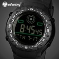 INFANTRY Watch Men Military Sports Watches Relogio Masculino Rubber Strap LED Digital Watch For Mens Alarm Clock Wristwatches