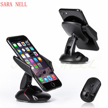 SARA NELL Universal Phone Desktop Holder Car Mount Stand For iPhone Xiaomi huawei 360 Degree Rotation Mouse Shape