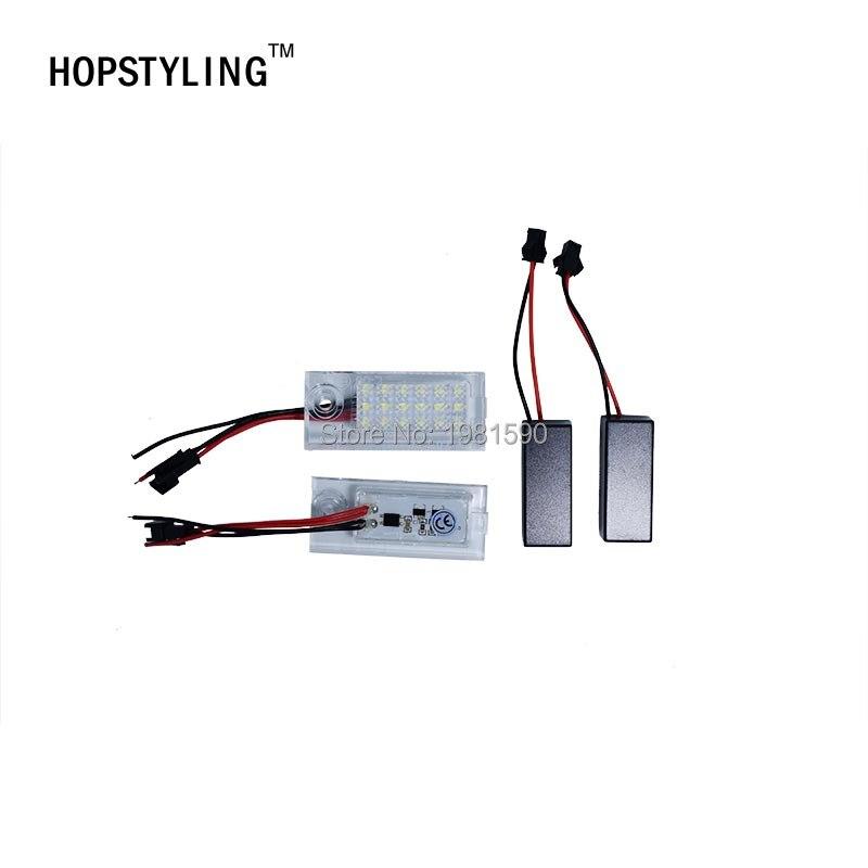 Hopstling 2x без ошибок 18 SMD LED номерной знак света для Audi A6 C5 4B седан укладки авто аксессуары белый лампы 6000 К