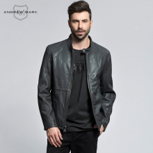 ANDREW MARC MNY 2016 Genuine Leather Sheepskin Men Jackets Coat Business Casual Street Biker Motorcycle Leather OutwearTM6A1014