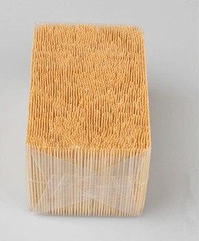 Super Waardevolle Bulk Bamboe Tandenstokers Fruit Dubbele of Enkele Sharp Tooth Sticks Natuurlijke Dental Sticks 1.6*65 Mm 3500 stks/zak