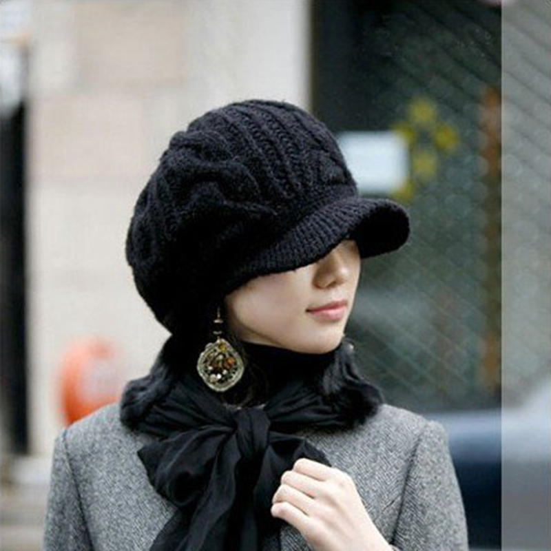 2016 New Fashion Korean Style Winter Hats for Women Classic Striped ...
