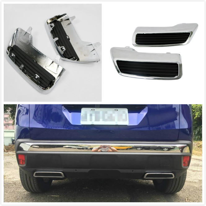 Car Styling Rear Exhaust Muffler Output Replacement Kit 2* / GT Decal Sticker 1* For Peugeot 3008 Allure Active 5008 2017 2018