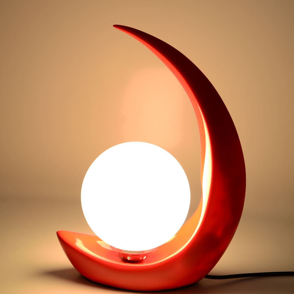 Moon crescent table lamp bedroom bedside resin decoration fashion wedding resin creative ZA81110 moon flac jeans