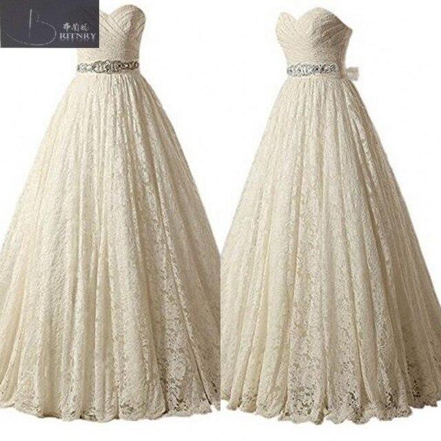 Vintage Viktorianischen Hochzeitskleid Schatz A Line Vollständige ...