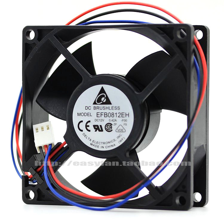 brand new DELTA EFB0812EH 8CM 8025 12V 0.42A high air volume Server cooling fan