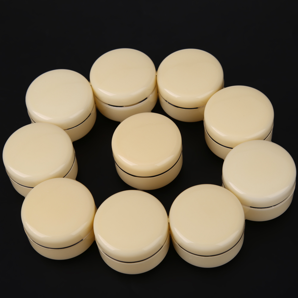 10pcs Cosmetic Empty Makeup Container Jar Box For Facail Cream Body Oil Skin olive oil Container Storage Refillable Bottles multifunctional car storage box container beige