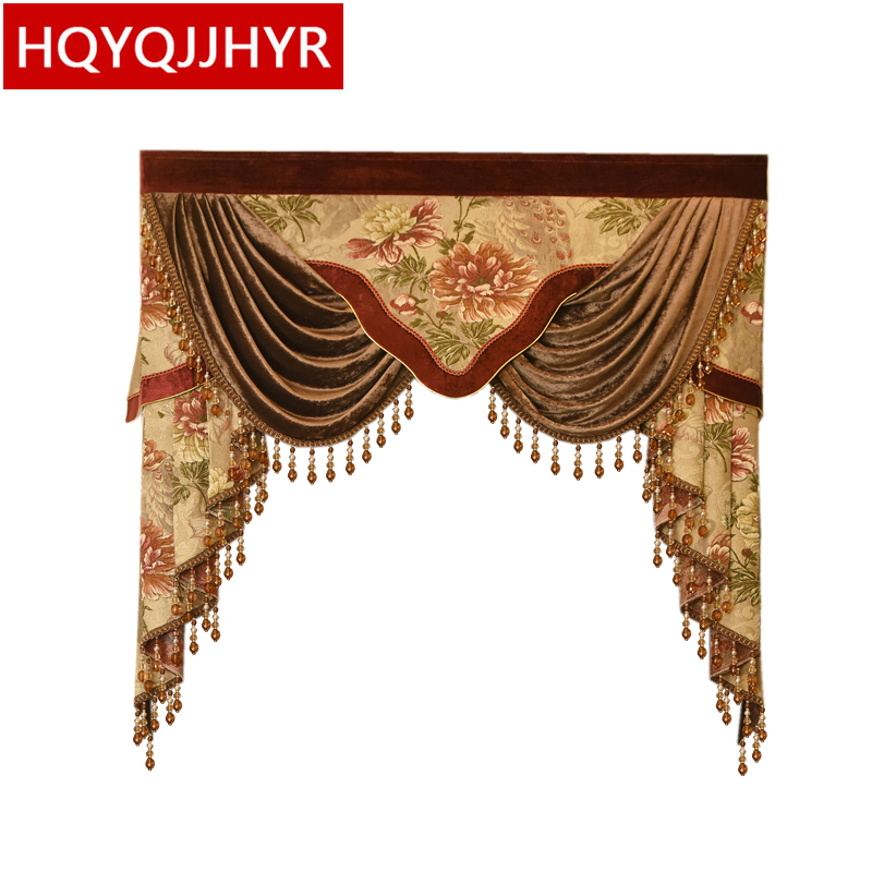 14 Style High-end Valance Custom-made For Living Room Bedroom Hotel Cafe Kitchen Window Not Including Cloth Curtain And Tulle