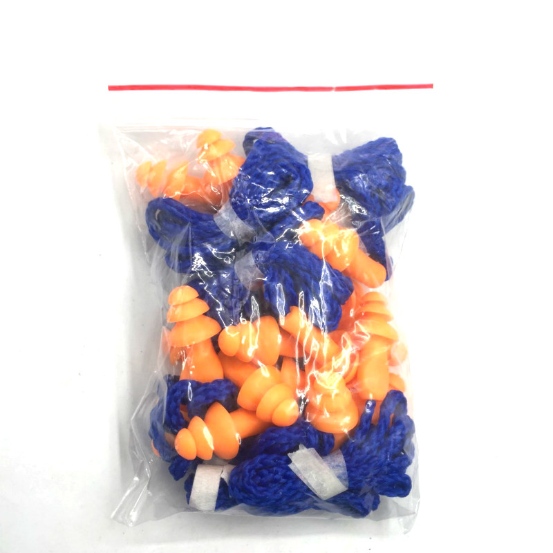 Image 5 - 10Pcs Soft Silicone Corded Ear Plugs Ears Protector Reusable Hearing Protection Noise Reduction Earplugs Earmuff-in Ear Protector from Security & Protection