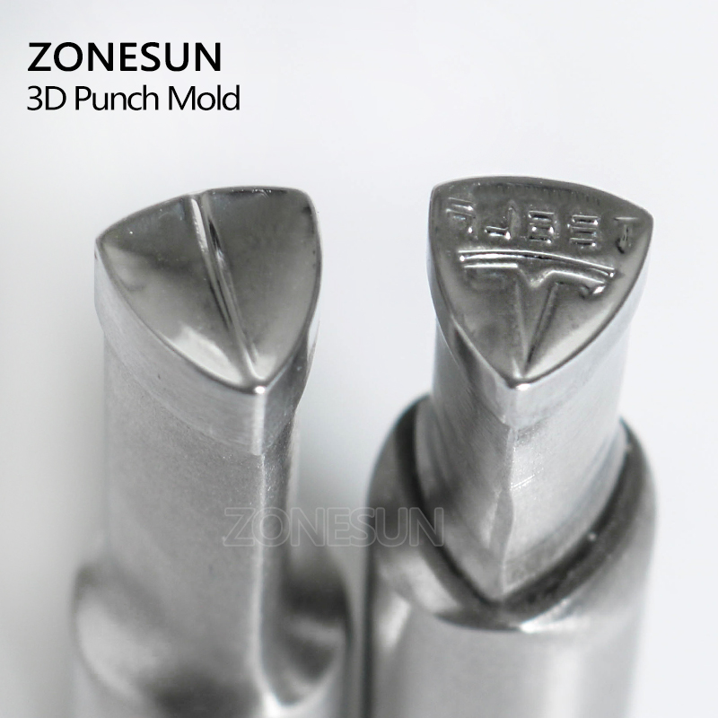 ZONESUN Single head T Tablet Press 3D Punch Mould Candy Milk Punching Die Custom Logo Punch Stamp Die TDP0/1.5/3 Press Machine hexagon stamp mould die set punch for the single punch tablet press machine free shipping