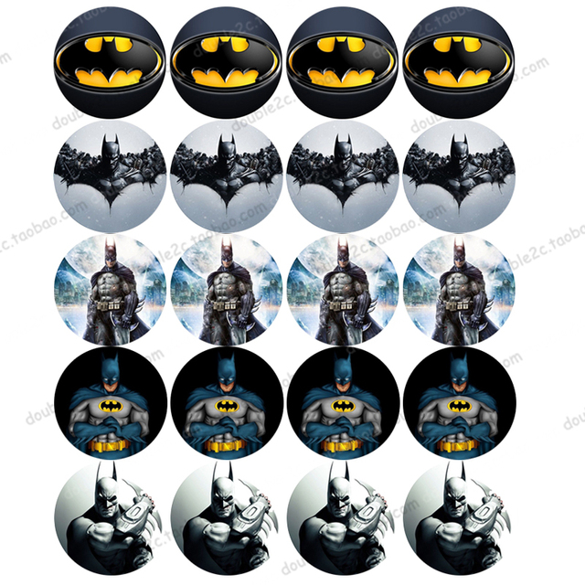 Batman Edible Wafer Paper for Cup Cake Topper 2 20pcsset Icing