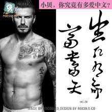 Temporary Tattoo Waterproof Tattoo Of Male And Female Small Fresh Beckham With Chinese Calligraphy Pattern Hc1024