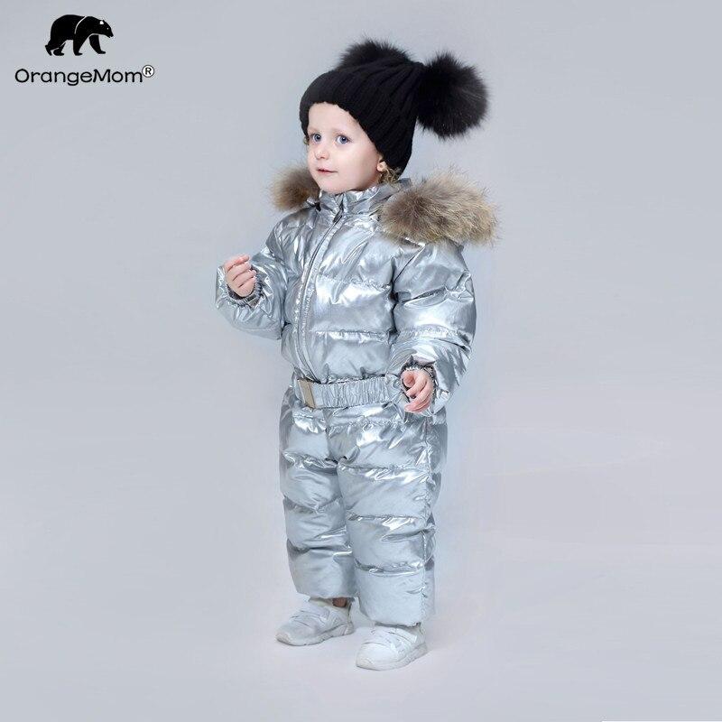 Orangemom/бренд 2019 года, зимняя одежда для малышей, детская одежда, пуховое пальто для девочек, куртка, детские комбинезоны для мальчиков, крутые ...