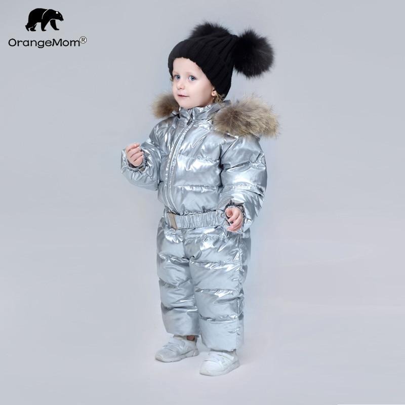 Orangemom marque 2018 hiver Bébé vêtements Enfants Vêtements de duvet de canard Manteaux pour Filles veste enfants garçons combinaisons cool habits de neige
