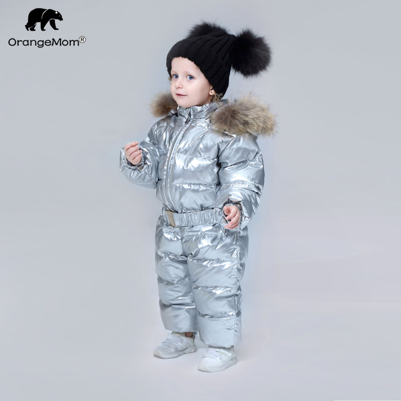 Orangemom marque 2019 hiver bébé vêtements vêtements pour enfants canard vers le bas manteaux pour filles veste enfants garçons combinaisons cool snowsuit