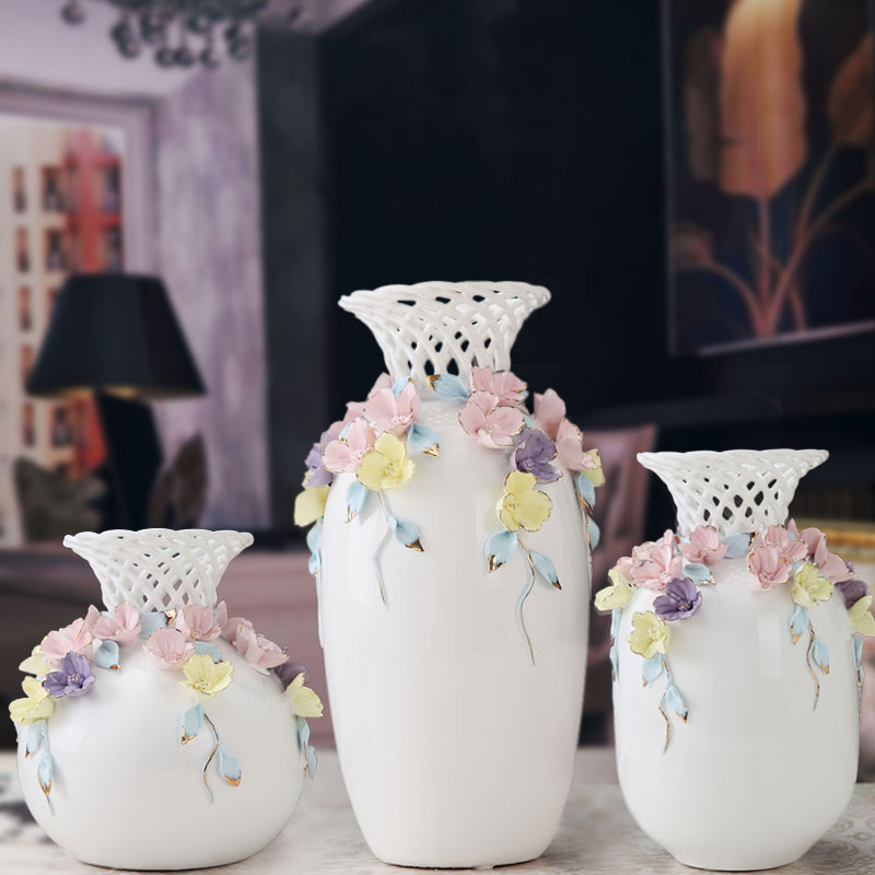 Jingdezhen Classique D'or Pivoine Porcelaine Moderne Vintage Fleur Vase En Céramique Fleur De Noël Décoration