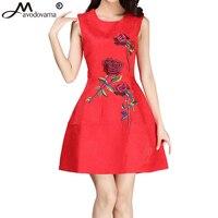 Avodovama M Novas Mulheres Estilo Do Vestido Do Vintage Elegante Vestido Rosa Bordado vestido de Baile Vestido Curto Vestidos de Festa Vermelho para Mulheres