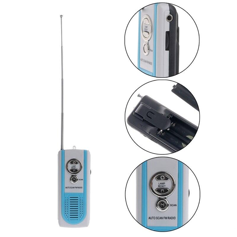 Bgektoth Mini Tragbare Auto Scan Fm Radio Receiver Clip Mit Taschenlampe Kopfhörer Dk-9926 Modische Und Attraktive Pakete Unterhaltungselektronik