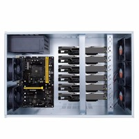 Professional Mining Case ETH BTC Open Air Mining Miner Frame Rig Coin Graphics Case For 6 8 GPU with 5 Powerful Fans
