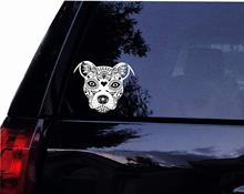 Tshirt Rocket Sugar Skull Pit Face - Pit Bull Dog Terrier Vinyl Car Decal, Laptop Decal, Car Window Wall Sticker (6) hotmeini car sticker jdm styling window bumper truck body decals animal pit bull american staffordshire terrier dog 13 5 15 1cm