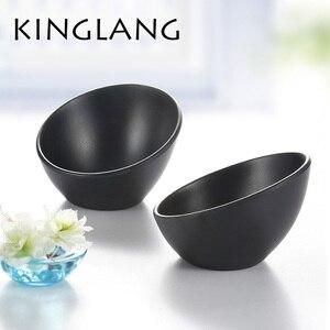Черная столовая посуда в японском стиле миска для мороженого для овощей меламиновая миска для горячего горшка фарфоровая посуда Корейская ...