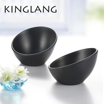 Black japanese style tableware vegetable ice cream bowl melamine hot pot bowls INMITATION porcelain tableware KOREAN
