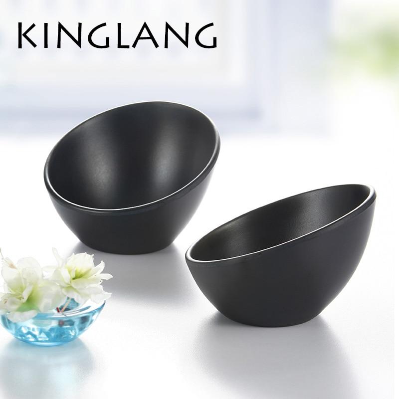 Black japanese style tableware vegetable ice cream bowl melamine hot pot bowls INMITATION porcelain tableware KOREAN SALAD bowl