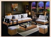 2018 Новый дизайн Мода Досуг индонезийский ротанга диван мебель для гостиной с деревянной рамой
