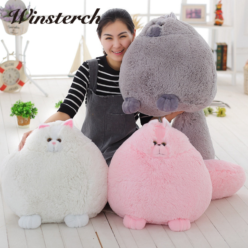 Hot Fat Cats Persian Cat Toys Plush Pillow Toys Soft Stuffed Animal Plush Dolls Simulation Peluches Gifts Kids Brinquedos WW315 1pcs 40cm 50cm hot sale japan rain umbrella totoro dolls stuffed plush toys dolls children gifts