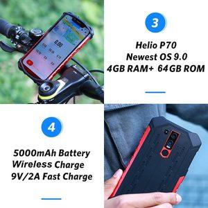 """Image 3 - Ulefone鎧6E IP68防水6.2 """"スマートフォンのandroid 9.0エリオP70 4ギガバイト64ギガバイト顔id nfcワイヤレス充電器携帯電話"""
