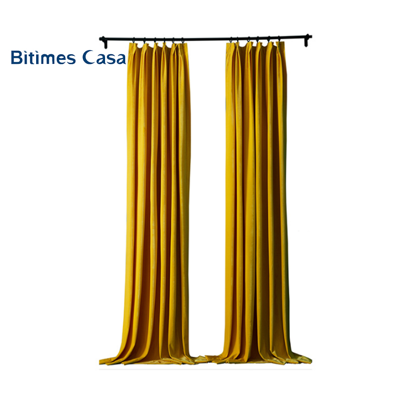 2018 New Material Heavy Weight Velvet Blackout Windows Curtain For Living Room Bedroom High Shading Solid Color Home Decoration