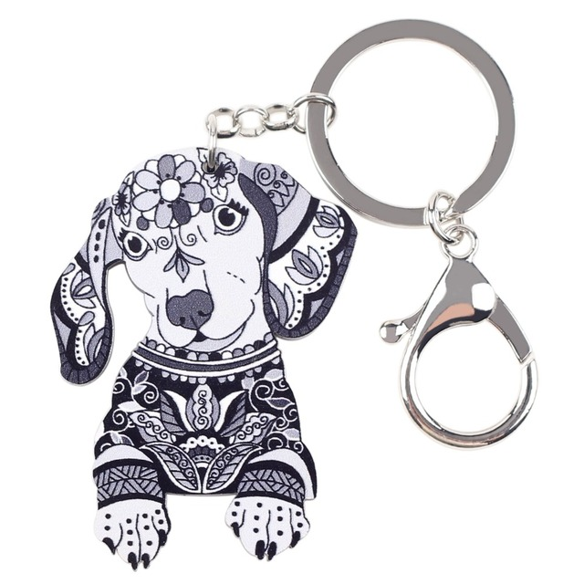 Dachshund Acrylic Key Chain