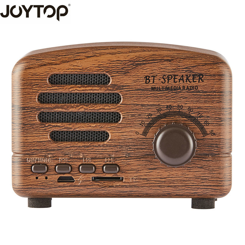 JOYTOP new Vintage Bluetooth Speaker Wireless Portable Mini speakers TF card FM Radio For Phones Speakers Computers Bluetooth portable bluetooth speaker wireless alarm clock music stereo soundbox time display fm radio tf card altavoz speakers for phones