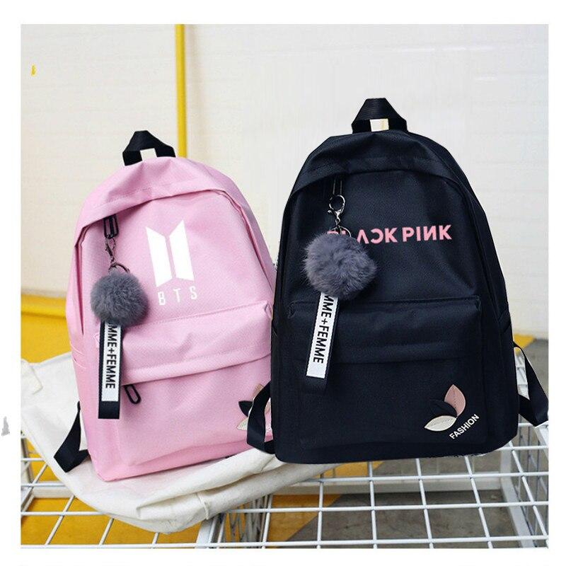 Bts Twice Exo Monsta X Wanna One Kpop K-pop Women Got7 Sac A Dos Female Backpacks School Bag Pack For Teenager K Pop Girls