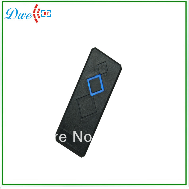 DWE CC RF Free Shipping  + 13.56Mhz+ wiegand 26 output format proximity reader + waterproof + MF one rfid reader dwe cc rf free shipping factory price iso14443a mf black color wiegand 34 output format access control card reader