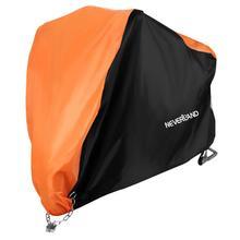 Orange Motorcycle Cover All Season Waterproof UV/Dustproof Protector Outdoor Motorbike Rain D30