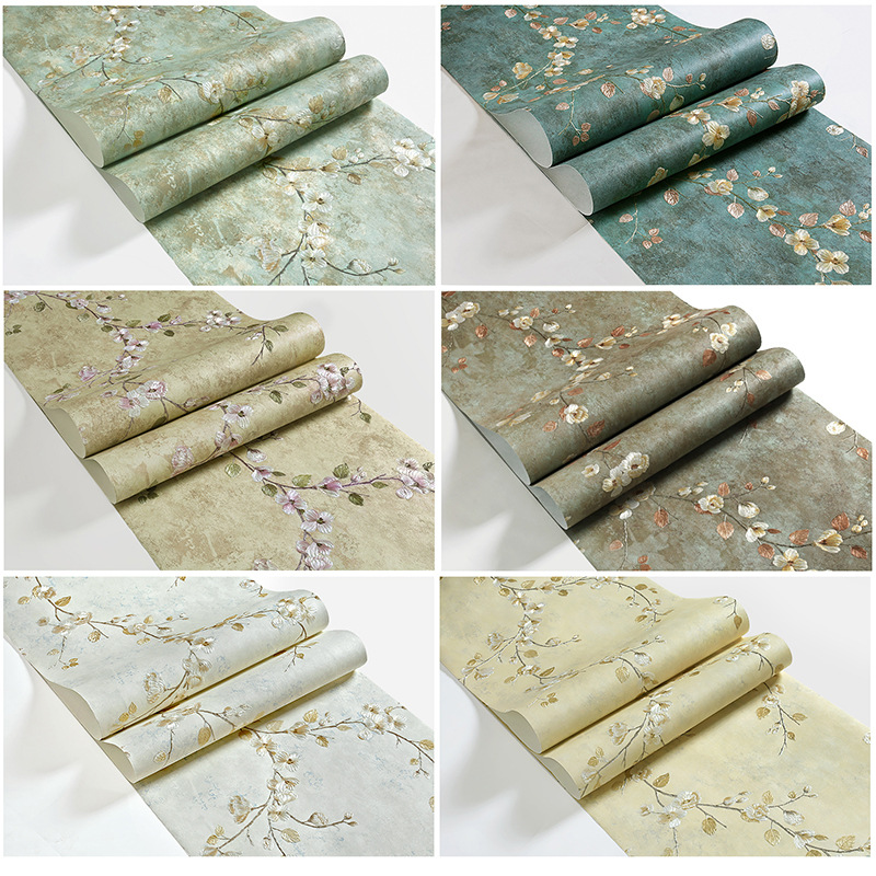 53cm X10m 3d Rural Floral Ab Retro Wallpaper Wall Paper Papel De Parede Damask For Living Room Bedroom Tv Sofa Background Painting Supplies & Wall Treatments