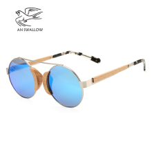 AN SWALLOW  Toketorism new summer vintage round sunglasses wood men polarized oculos feminino