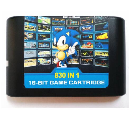 The Ultimate 830 in 1 EDMD Remix Game Cartridge for USA/ Japanese /European SEGA GENESIS MegaDrive Console image