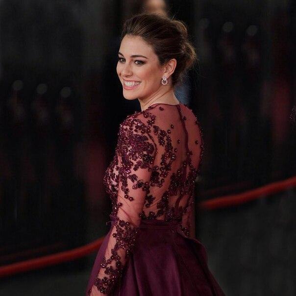 Femmes violet à manches longues robes de soirée élégant formel longues robes Satin une ligne célébrité robes formelles soirée 2019 - 3
