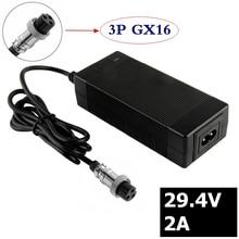 2A 29.4V charger for 24V 25.2V 25.9V 29.4V 7S lithium battery pack 29.4V recharger e-bike charger 3-Prong Inline Connector M16 connector sr30 10jf 7s 71