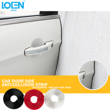 5M/lot PVC Car Door Guard Edge Decoration Strip Protector Creative Stickers Black White Red Car Styling DIY Accessories